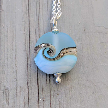Babe Lentil Necklace - Sea Breeze