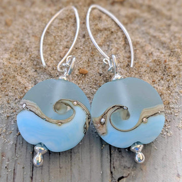 Lentil Drop Earrings - Sea Breeze