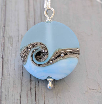 Lentil Necklace - Sea Breeze