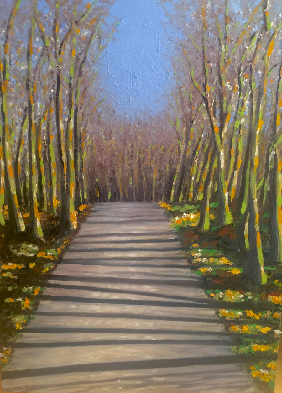 A Walk in the Woods oil painting - Jo Chandler