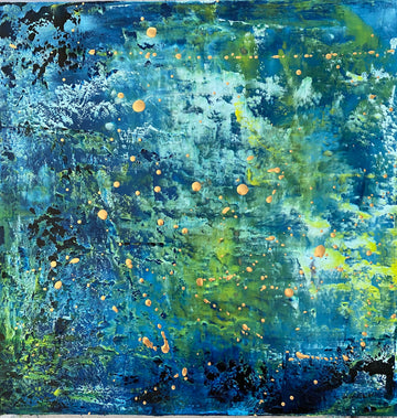 Aqua Lake Diptych - Jo Chandler