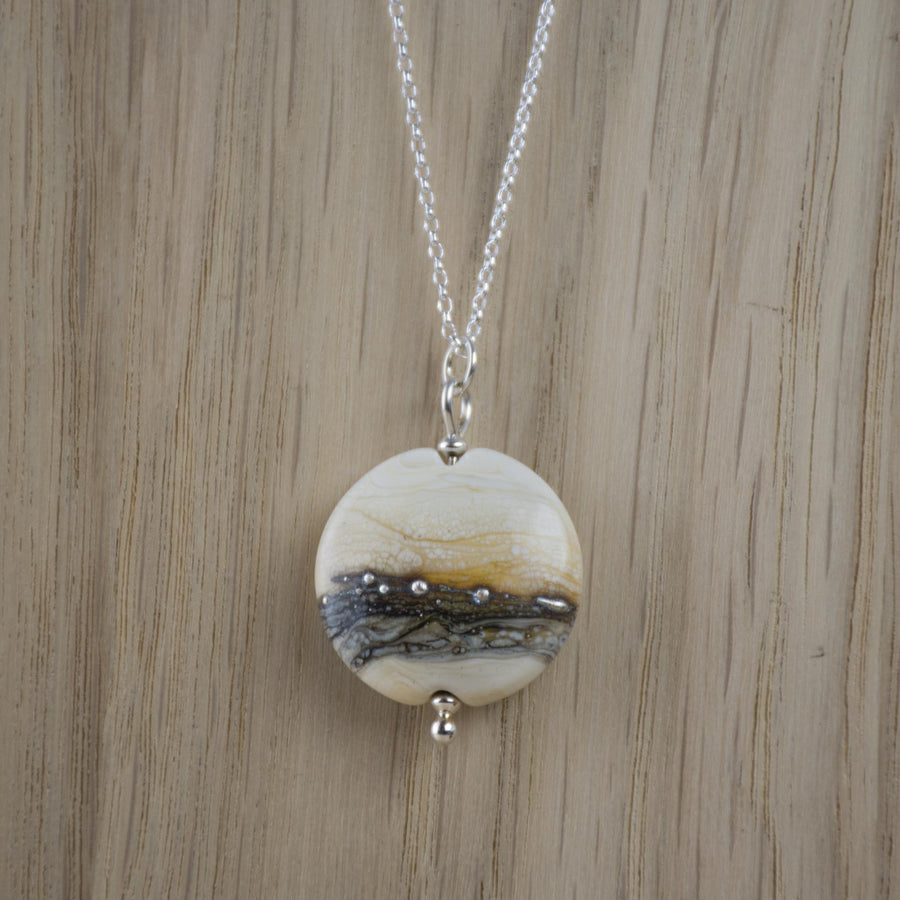 Opaque Lentil Necklace - Sand