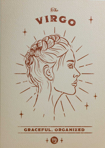 Virgo Zodiac Card