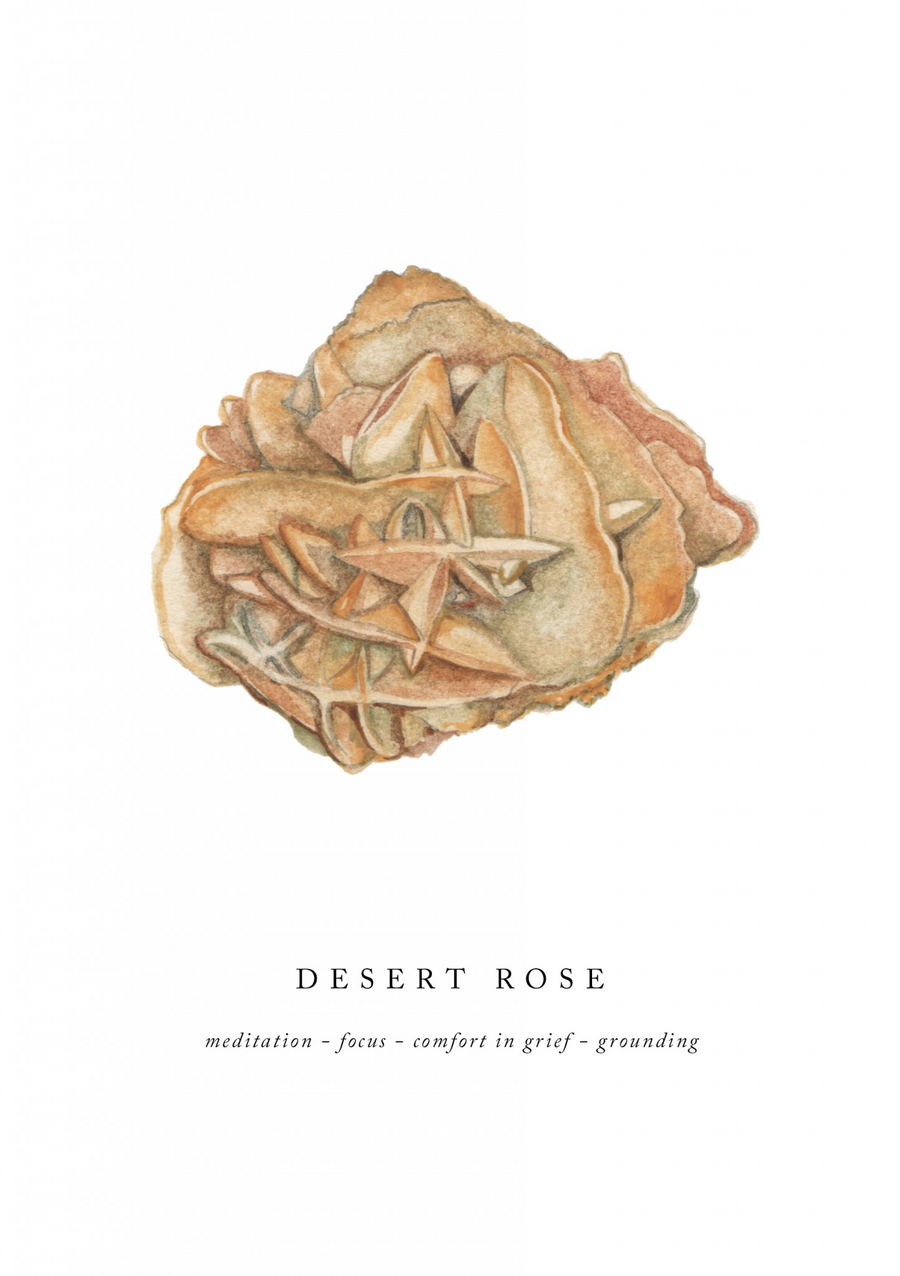 Desert Rose A5 Art Print