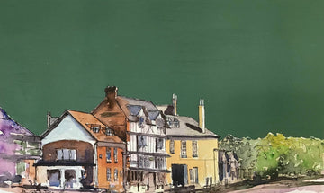 Original Painting of the Tudor House in Exeter  - John O'Neill