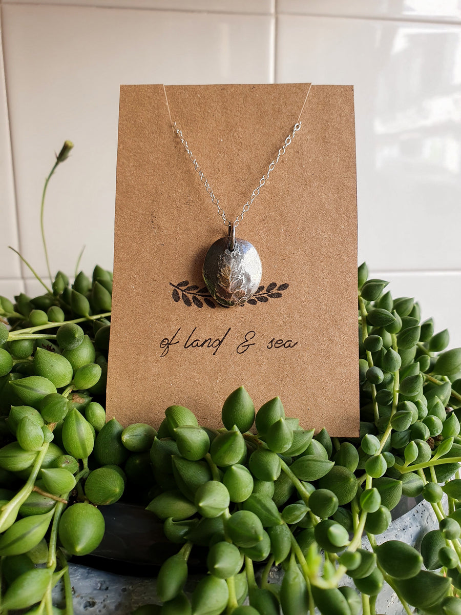 Leaf Imprint Necklace - Of Land and Sea