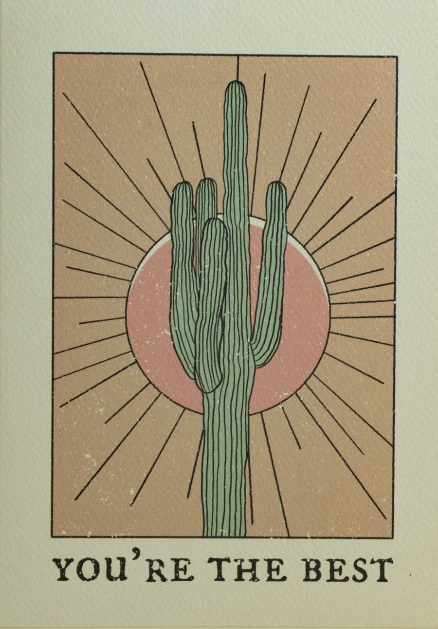 You're the Best Cacti Card