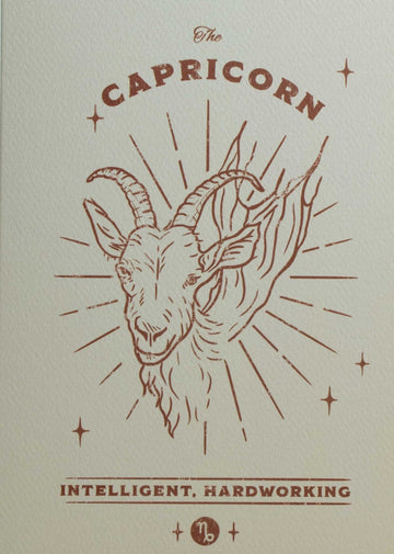 Capricorn Zodiac Card