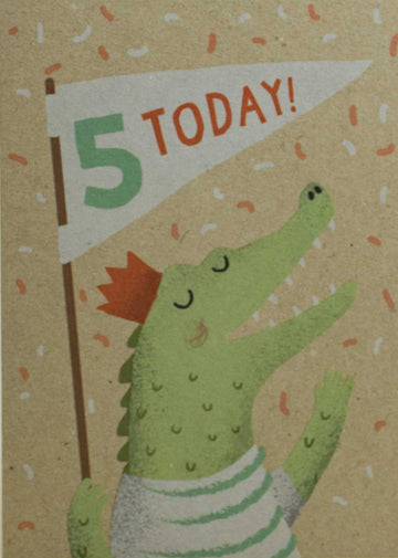 5th Birthday Croc Card