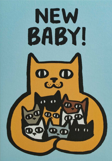 New Baby Cat Card