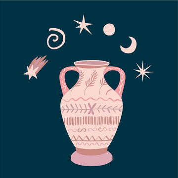 Stars & Decorated Vase Print