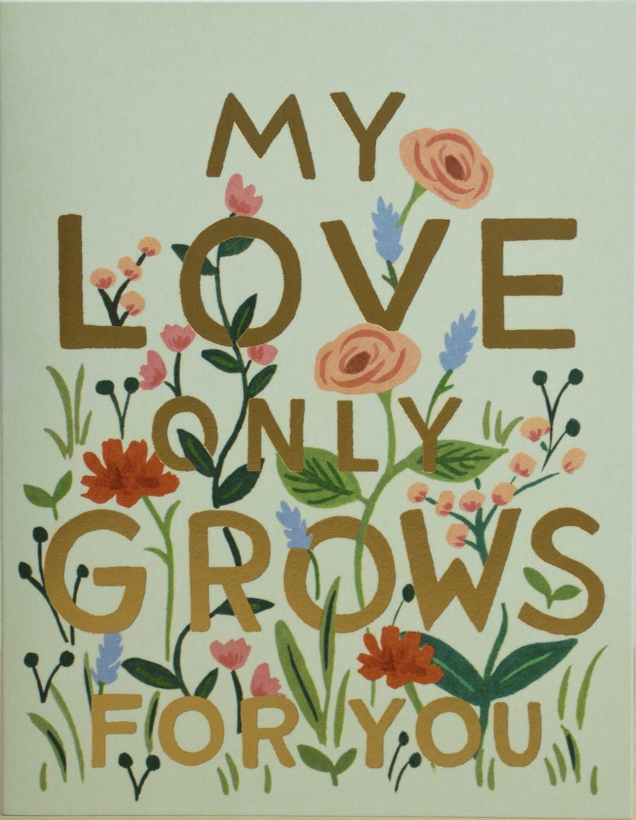 Love only Grows Card