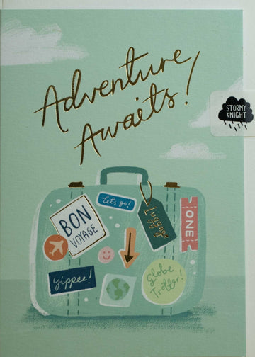 Adventure Awaits card