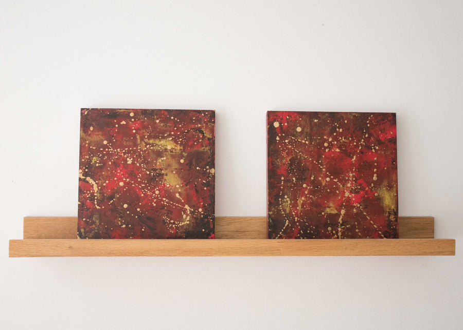 Red Reflections Diptych - Jo Chandler