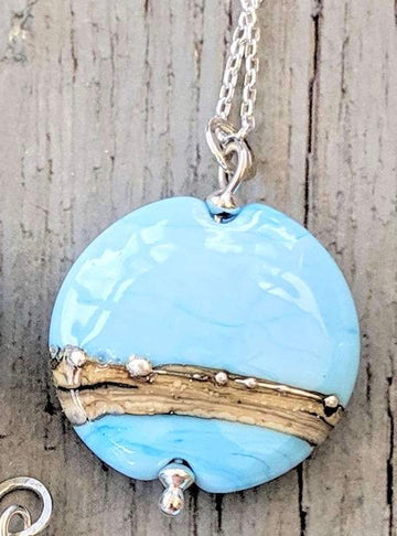 Opaque Lentil Necklace - Sky