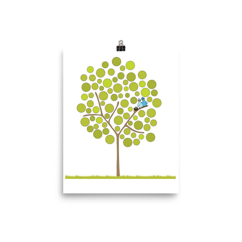 Wish Tree with Birds Poster