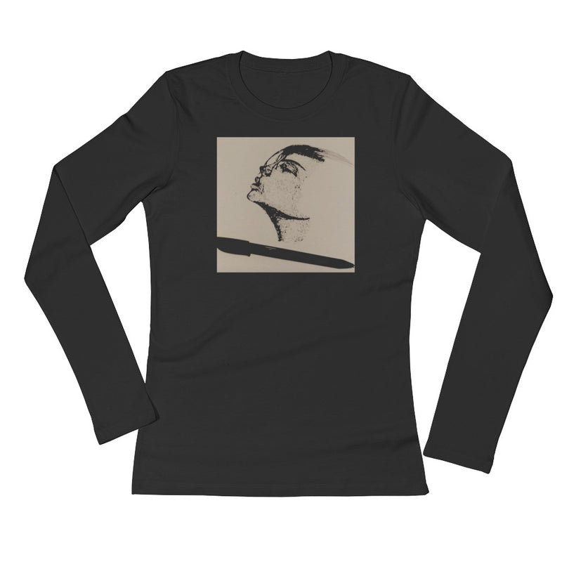 Breathe It In Ladies' Wear Your Voice Long Sleeve T-Shirt by Ventcri - Ventcri