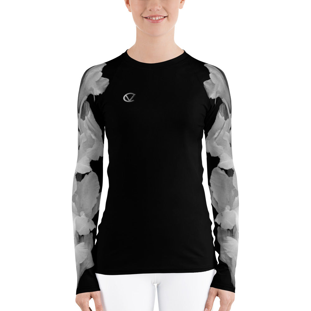 Women's Iris Crush Rash Guard by VENTCRI