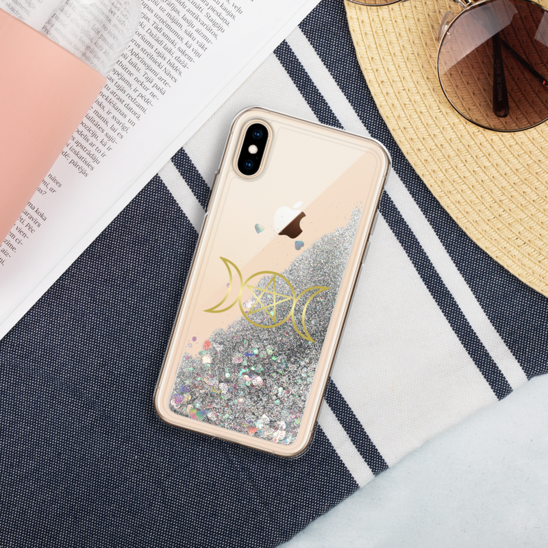 Goddess Gold Liquid Glitter Phone Case