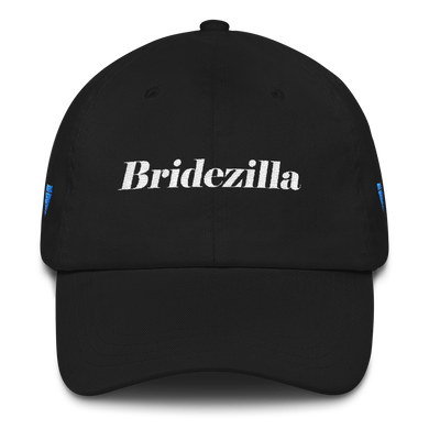 Bridezilla Black 6 Panel Ball Cap By Ventcri.com