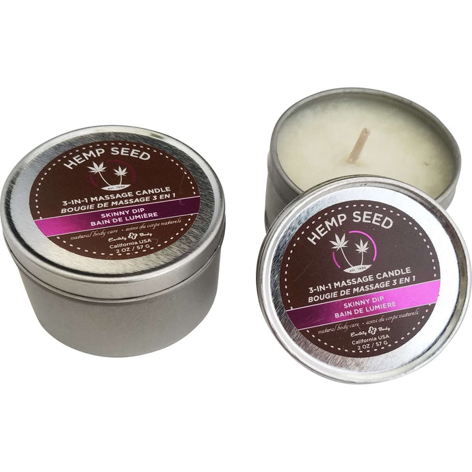 Earthly Body Candle, Set of 2 -  2 oz Mini, Skinny Dip