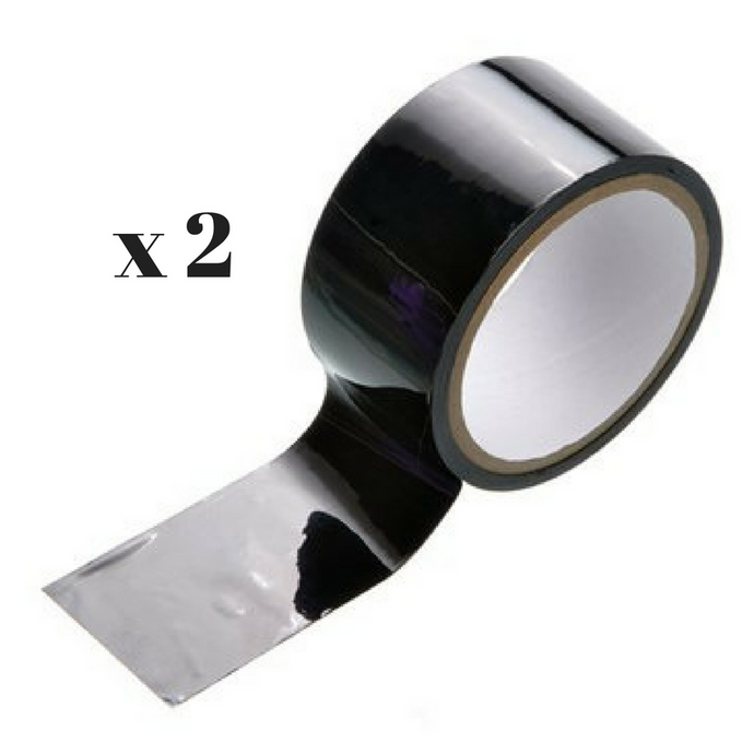 Black Pleasure Tape / Bondage Tape - 2 Rolls @ 45' each - 90' Total!