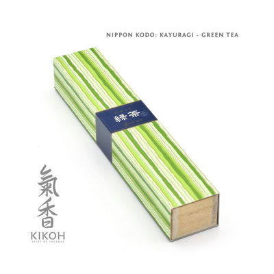 Nippon Kodo Kayuragi Incense - Green Tea package
