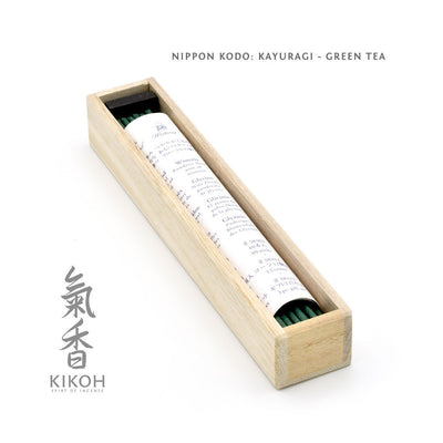 Nippon Kodo Kayuragi Incense - Green Tea package inside
