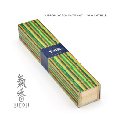 Nippon Kodo Kayuragi Incense - Osmanthus package