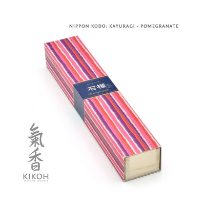 Nippon Kodo Kayuragi Incense - Pomegranate package