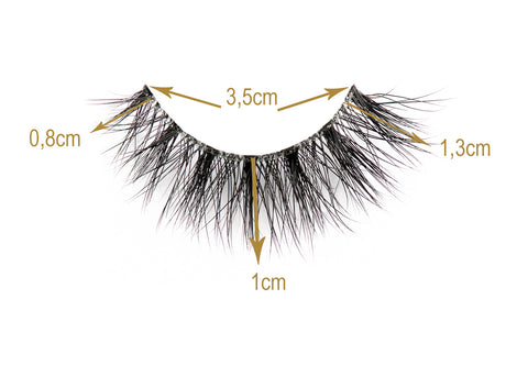 Monaco Lashes Sizes