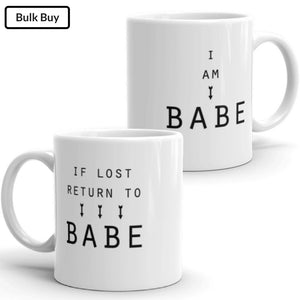 Babe with Babe Mugs