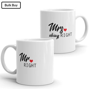 Mr - Mrs Right Mugs