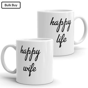 Happy Wife = Life Mugs