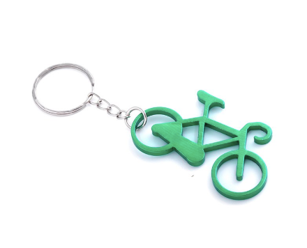 10 pcs Multicolour Bicycle Keychain