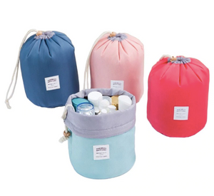 Waterproof Barrel Travel Cosmetics Bag