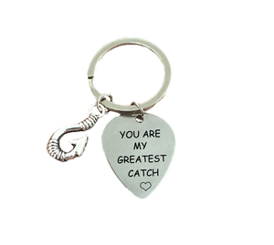 You Are My Greatest Catch Keychain