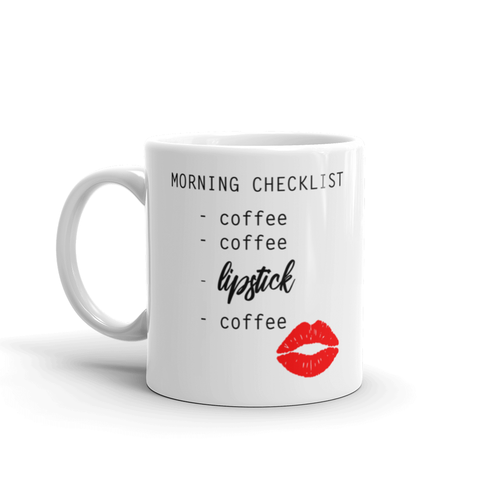 Coffee x2, Lipstick Mug