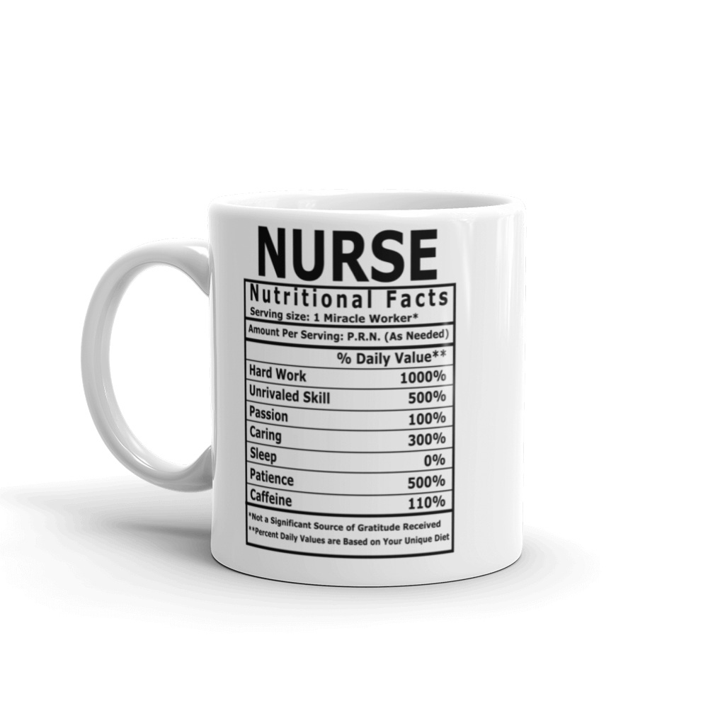 Nurse's Nutritional Facts Mug