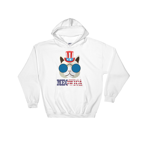 Funky Cat With Hat USA Hoodie