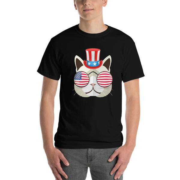 Funky Cat With Hat & Sunnies Men's Tee
