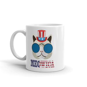 Funky Cat With Hat USA Mug