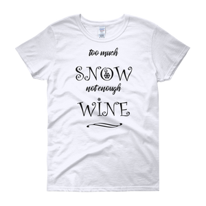 Snow & Wine Christmas Womens Tee
