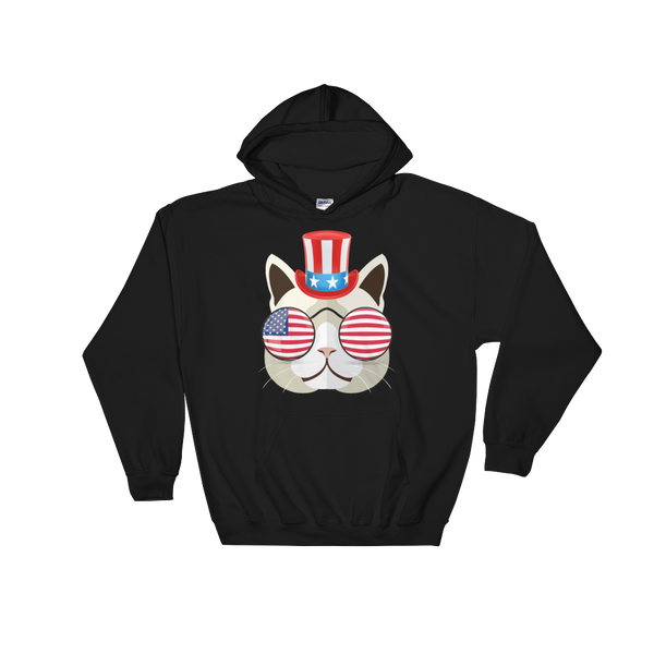 Funky Cat With Hat & Sunnies Hoodie