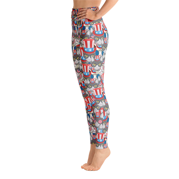 USA Cats Overload Yoga Leggings