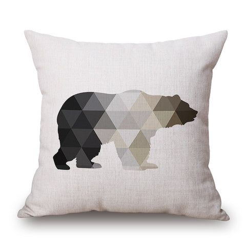 Monochrome Geometric Animal Pillow Cases