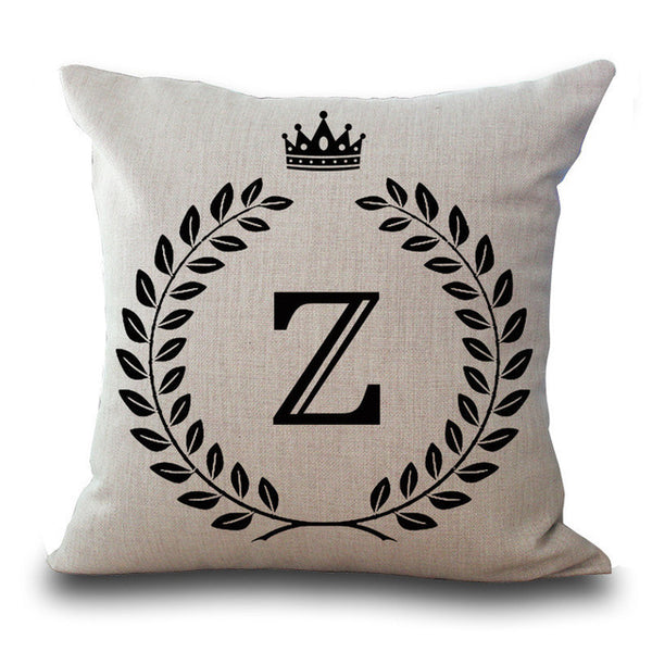 Crown Letter Pillow Cases