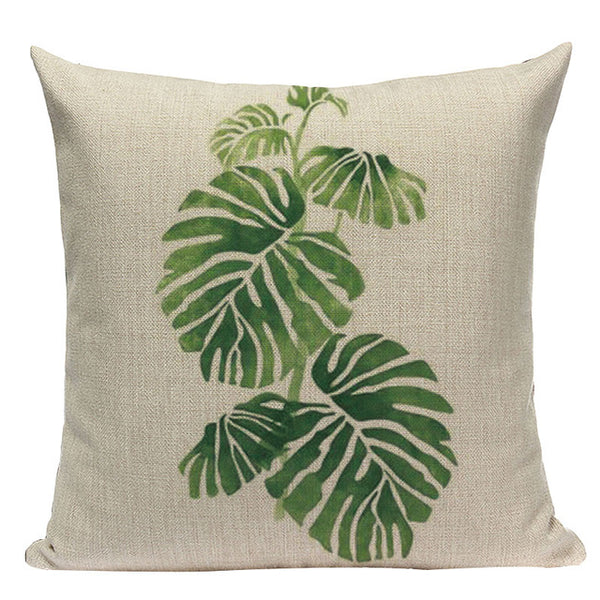 Tropical Leaves Pillow Cases