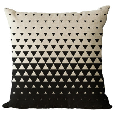 Monochrome Geometric Pillow Cases