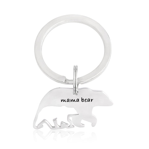 Mama Bear Bear Shaped Keyring